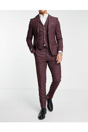 Harry Brown Check skinny fit suit trouser