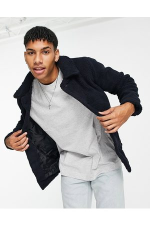 French Connection Borg jacket in navy