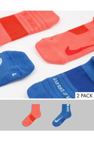 Nike 2 pack ankle socks in and red