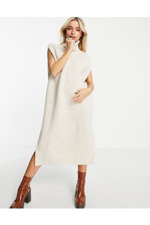 Monki Women Casual Dresses - Knitted dress in off