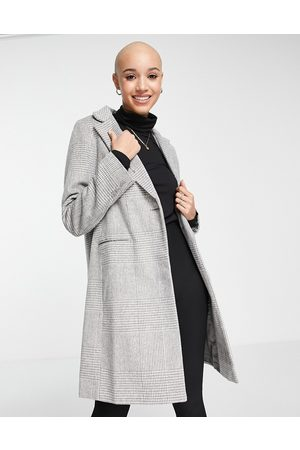 New Look Tailored check coat in twill