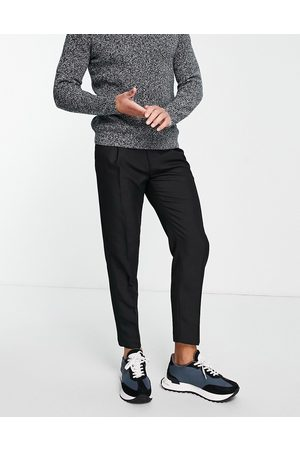 Topman Pronouced twill tapered trousers in