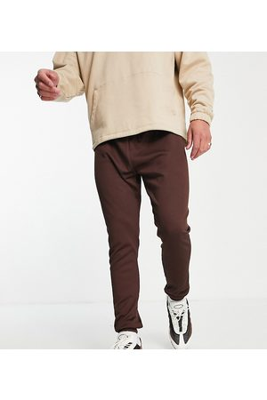 VAI21 Men Joggers - Ribbed skinny joggers in pruce