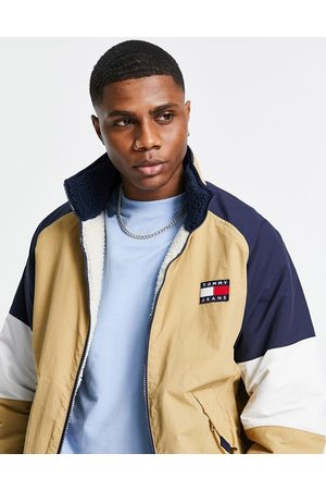 Tommy Hilfiger Reversible retro borg/cotton jacket in navy