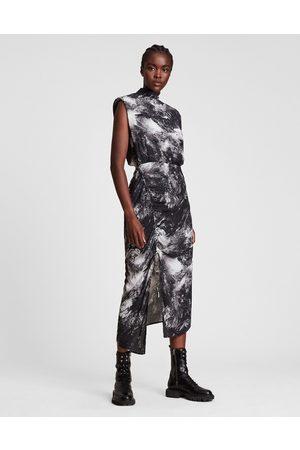 AllSaints High neck sleeveless maxi dress in valhalla print