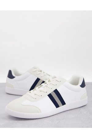 ASOS Men Sneakers - Lace up retro stripe trainers in