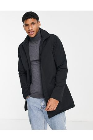 French Connection Funnel neck lined mac jacket in