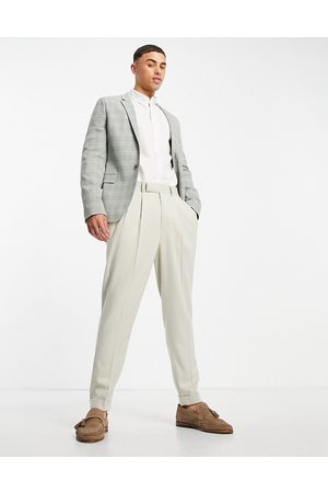 ASOS Wedding super skinny suit jacket with window pane check in