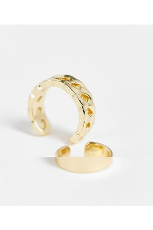 ASOS Pack of 2 ear everyday cuffs in in tone