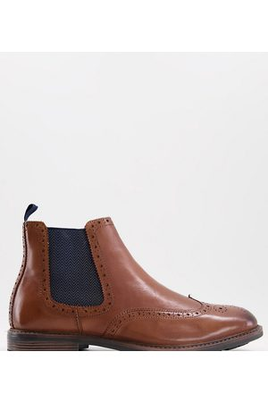 Silver Street Wide fit leather chelsea boots in tan