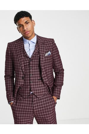 Harry Brown Check skinny fit suit jacket