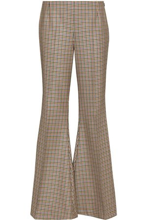 Stella McCartney Houndstooth-pattern flared trousers