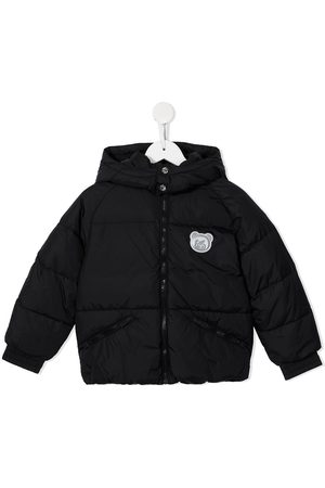Moschino Teddy Bear-patch zip-up padded jacket
