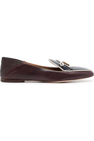 Tory Burch Tie-up leather loafers