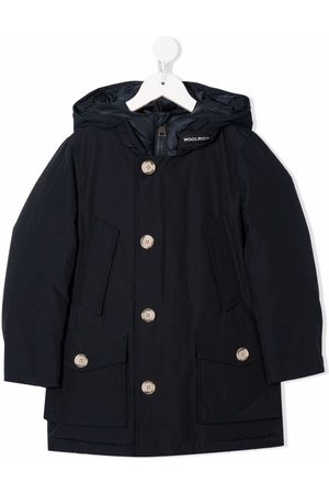 Woolrich Collar-logo hooded padded coat