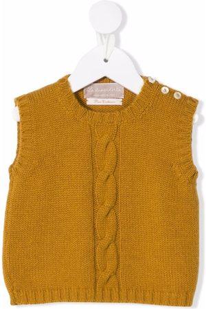 LA STUPENDERIA Cable-knit vest