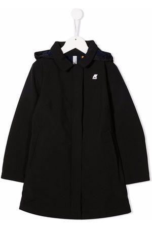K-Way Logo-patch hooded coat