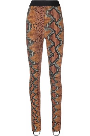 Roberto Cavalli Snakeskin-print leggings