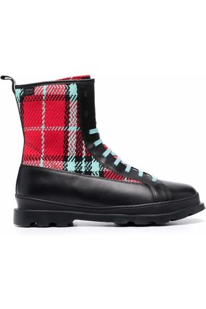 Camper Check-print boots