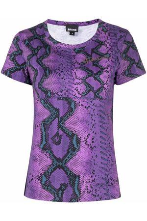 Roberto Cavalli Snakeskin-print T-shirt