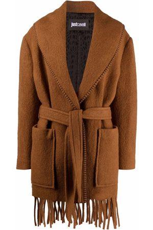 Roberto Cavalli Tied-waist coat