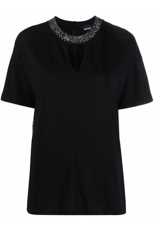 Roberto Cavalli Studded cotton blouse