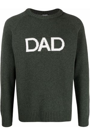 RON DORFF Dad-print Nordic knitted jumper