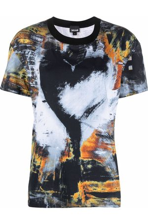 Roberto Cavalli Graphic-print cotton T-shirt