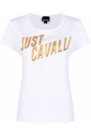 Roberto Cavalli Logo-print cotton T-shirt