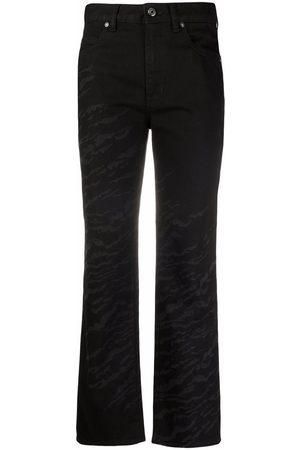 Roberto Cavalli Zebra straight-leg cropped jeans
