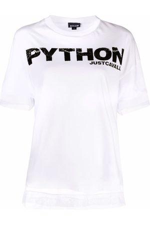 Roberto Cavalli Python-print T-shirt