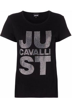 Roberto Cavalli Embellished-logo T-shirt