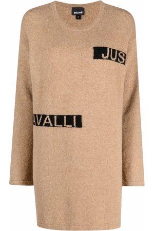Roberto Cavalli Logo-print knit dress