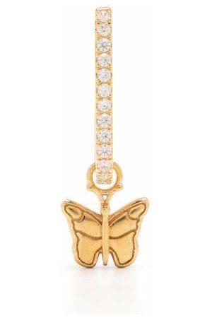 WILHELMINA GARCIA Butterfly oval hoop earring