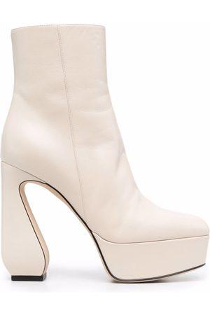 SI ROSSI Sculpted-heel platform boots