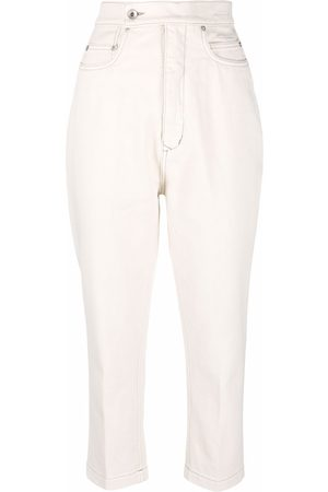 Rick Owens High-waisted cropped jeans