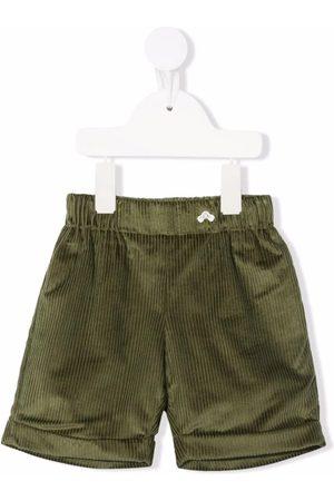 LA STUPENDERIA Straight leg corduroy shorts