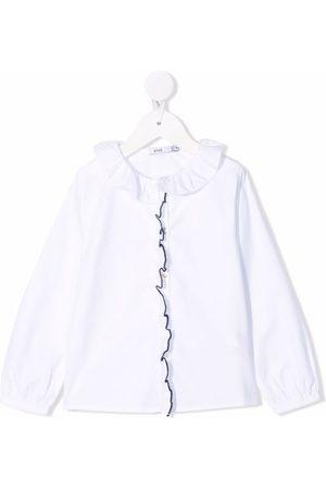 KNOT Ruffle-collar cotton blouse