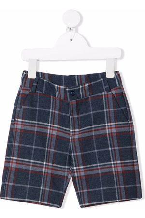 KNOT Check-print shorts