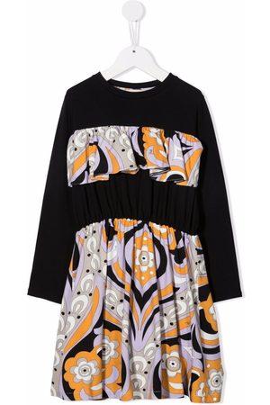 Emilio Pucci Abstract-print ruffled dress