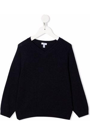 KNOT Ribbed-knit V-neck sweater
