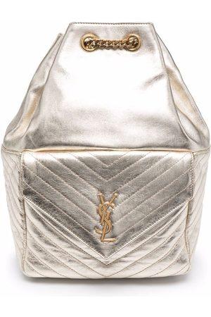 Saint Laurent Metallic logo backpack