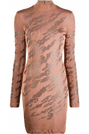 Roberto Cavalli Animal-print knitted dress