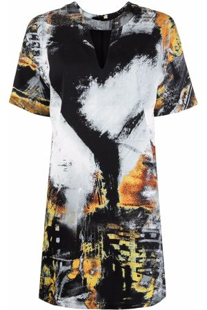 Roberto Cavalli Painterly-print shift dress