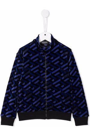 VERSACE La Greca monogram chenille jacket