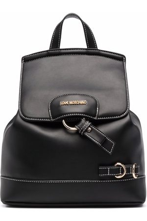Love Moschino Logo-plaque faux leather backpack