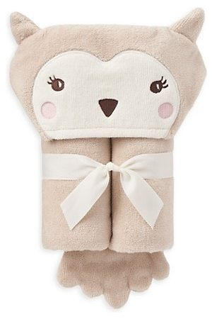 Elegant Baby Baby's Owl Bath Wrap Towel