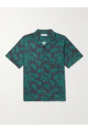 Desmond & Dempsey Men Pyjamas - Camp-Collar Printed Cotton Shirt