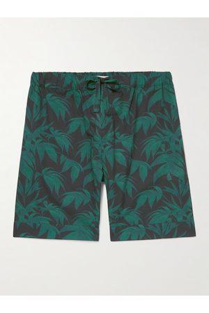 Desmond & Dempsey Men Pyjamas - Byron Printed Cotton-Poplin Pyjama Shorts
