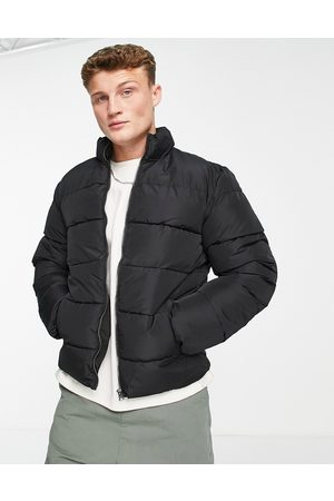 Only & Sons Puffer jacket with stand collar in